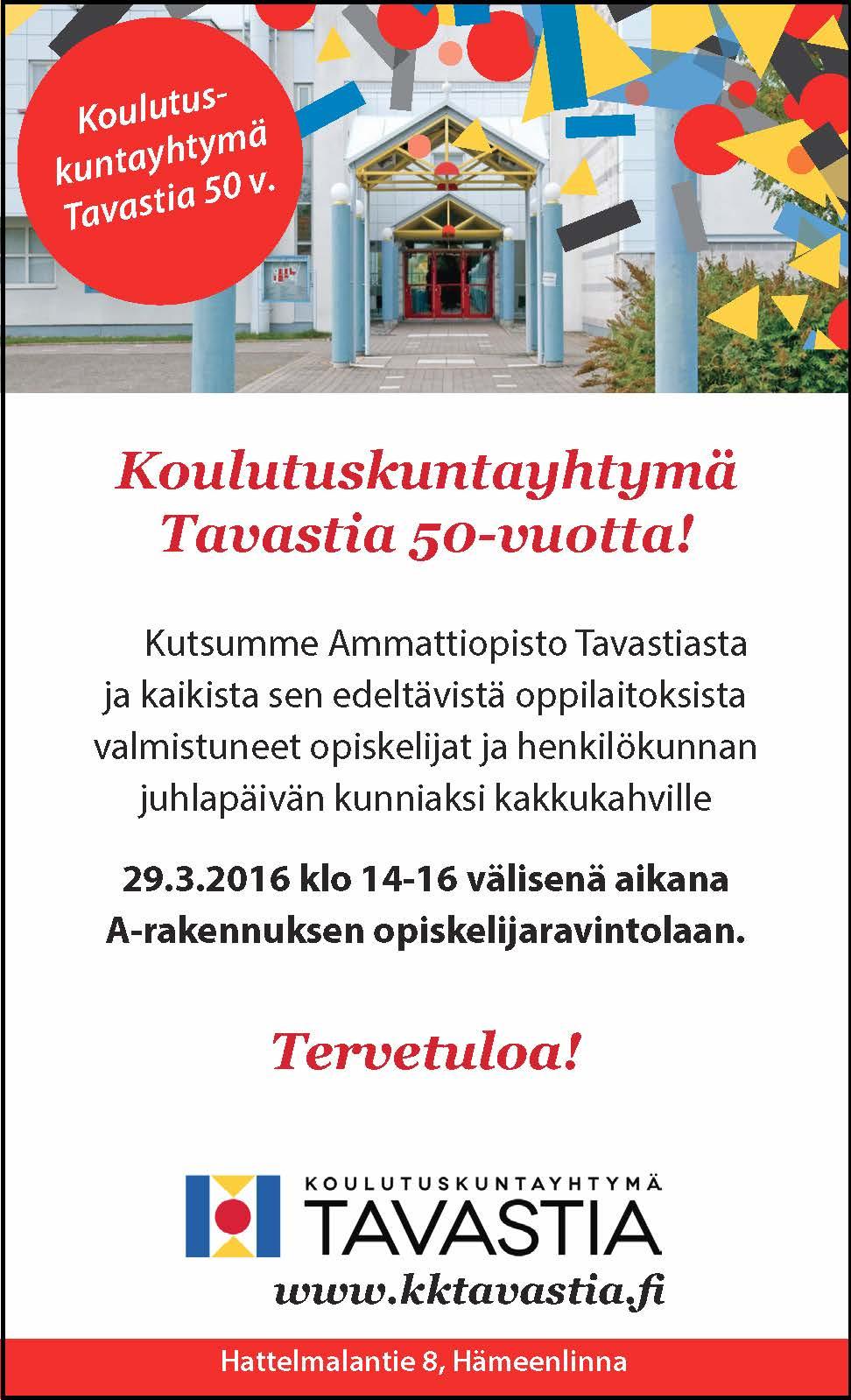 Koulutuskuntayhtymä 50-vuotta, KU 23.3.2016
